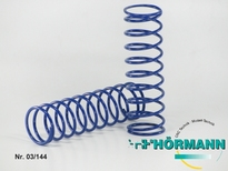 03/144 Schokdemper veer lang 2,4 mm. blauw 2 Stuks