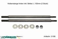 03/211 Demperstang achterkant  L=100 mm. 4,8 mm. 2 Stuks